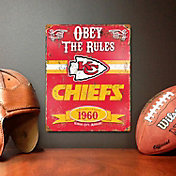 Party Animal Kansas City Chiefs Embossed Metal Sign