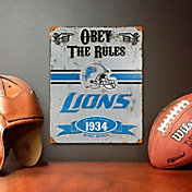 Party Animal Detroit Lions Embossed Metal Sign