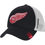 Reebok Men's Detroit Red Wings Center Ice Slouch Black Flex Hat