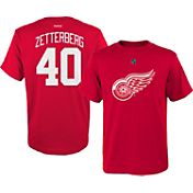 Reebok Youth Detroit Red Wings Henrik Zetterberg #40 Replica Home Player T-Shirt
