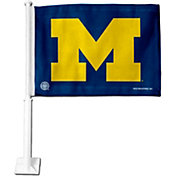 Rico Michigan Wolverines Navy Car Flag