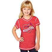 Soft As A Grape Youth Girls' St. Louis Cardinals Red V-Neck Shirt
