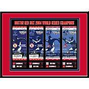 That's My Ticket Boston Red Sox 2004 World Series Framed Printed Ticket Collection