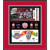That's My Ticket Alabama Crimson Tide Back-to-Back Champions Framed Tickets