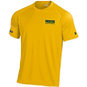 Under Armour NFL Combine Authentic Men's Green Bay Packers Wordmark Tech Gold Performance T-Shirt