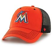 '47 Men's Miami Marlins Taylor Closer Orange Fitted Hat