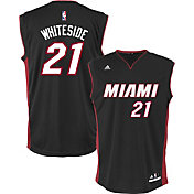 adidas Men's Miami Heat Hassan Whiteside #21 Road Black Replica Jersey