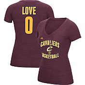 adidas Women's Cleveland Cavaliers Kevin Love #0 Burgundy Tri-Blend V-Neck T-Shirt