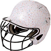 adidas OSFM Paint Splatter Fastpitch Batting Helmet w/ Facemask
