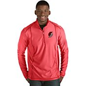 Antigua Men's Portland Trail Blazers Tempo Red Quarter-Zip Pullover