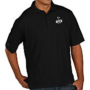Antigua Men's Super Bowl LI Bound Atlanta Falcons Pique Xtra-Lite Black Polo