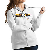Antigua Women's 2017 NHL Stanley Cup Champions Pittsburgh Penguins Victory White Full-Zip Hoodie