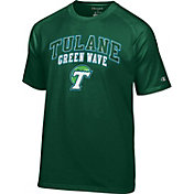 Champion Men's Tulane Green Wave Green Dual-Blend T-Shirt