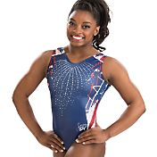 GK Elite Youth Simone Biles Signature Firecracker Gymnastics Leotard