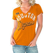G-III For Her Women's Houston Dynamo Homefield Orange Slub T-Shirt