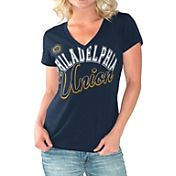 G-III For Her Women's Philadelphia Union Homefield Navy Slub T-Shirt