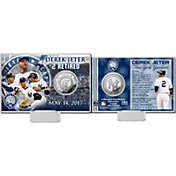 Highland Mint New York Yankees Derek Jeter Jersey Retirement Silver Coin Card