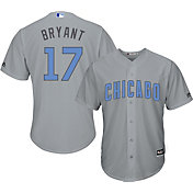 Majestic Men's Replica Chicago Cubs Kris Bryant #17 2017 Father's Day Cool Base Jersey