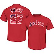 Majestic Men's Los Angeles Angels Mike Trout #27 Red Americana T-Shirt