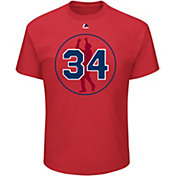 Majestic Men's Boston Red Sox David Ortiz #34 Jersey Retirement Logo Red T-Shirt