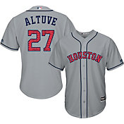 Majestic Men's Replica Houston Astros Jose Altuve #27 2017 4th Of July Cool Base Jersey