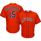 Majestic Men's Replica Houston Astros Carlos Beltran #15 Cool Base Alternate Orange Jersey