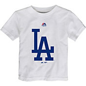 Majestic Toddler Los Angeles Dodgers White T-Shirt