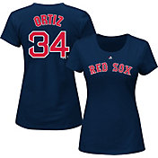 Majestic Women's Boston Red Sox David Ortiz #34 Navy T-Shirt