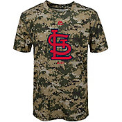 Majestic Youth St. Louis Cardinals Cool Base Digi Camo Performance T-Shirt