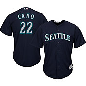 Majestic Youth Replica Seattle Mariners Robinson Cano #22 Cool Base Alternate Navy Jersey