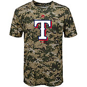 Majestic Youth Texas Rangers Cool Base Digi Camo Performance T-Shirt