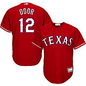 Majestic Youth Replica Texas Rangers Rougned Odor #12 Cool Base Alternate Red Jersey