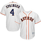 Majestic Youth Replica Houston Astros George Springer #4 Cool Base Home White Jersey