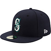 New Era Men's Seattle Mariners 59Fifty Game Navy Authentic Hat