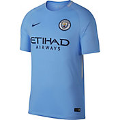 Nike Men's Manchester City 17/18 Breathe Stadium Home Jersey