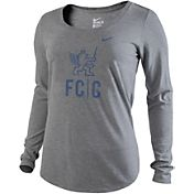 Nike Women's FC Cincinnati Logo Grey Long Sleeve Scoop T-Shirt