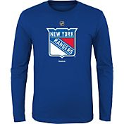 Reebok Youth New York Rangers Royal Long Sleeve Logo T-Shirt