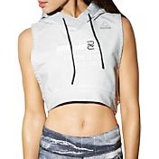 Reebok Women's Combat Glory Cropped Sleeveless Hoodie