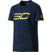 Under Armour Boys' SC30 Speckle Print Graphic Basketball T-Shirt