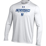 Under Armour Men's Creighton Bluejays White Long Sleeve Tech T-Shirt