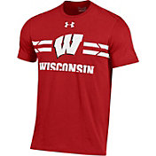 Under Armour Men's Wisconsin Badgers Red T.A.P.S. T-Shirt