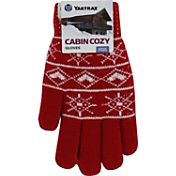 Yaktrax Women's Cozy Classic Red Nordic Gloves