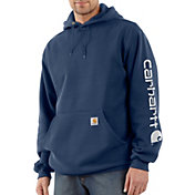 Carhartt Men's Midweight Hooded Logo Sleeve Sweatshirt