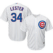 Majestic Men's Replica Chicago Cubs Jon Lester #34 Cool Base Home White Jersey