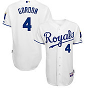 Majestic Men's Authentic Kansas City Royals Alex Gordon #4 Cool Base Home White On-Field Jersey