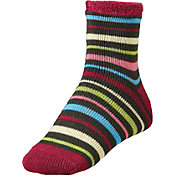 Yaktrax Women's Cozy Multi-Stripe Cabin Socks