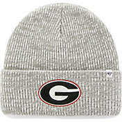'47 Men's Georgia Bulldogs Heathered Grey Brain Freeze Cuffed Knit