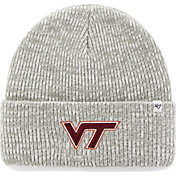 '47 Men's Virginia Tech Hokies Heathered Grey Brain Freeze Cuffed Knit