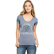 '47 Women's Seattle Mariners Fantasy Navy Scoop Neck T-Shirt