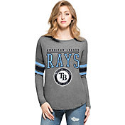 '47 Women's Tampa Bay Rays Grey Courtside Long Sleeve Shirt